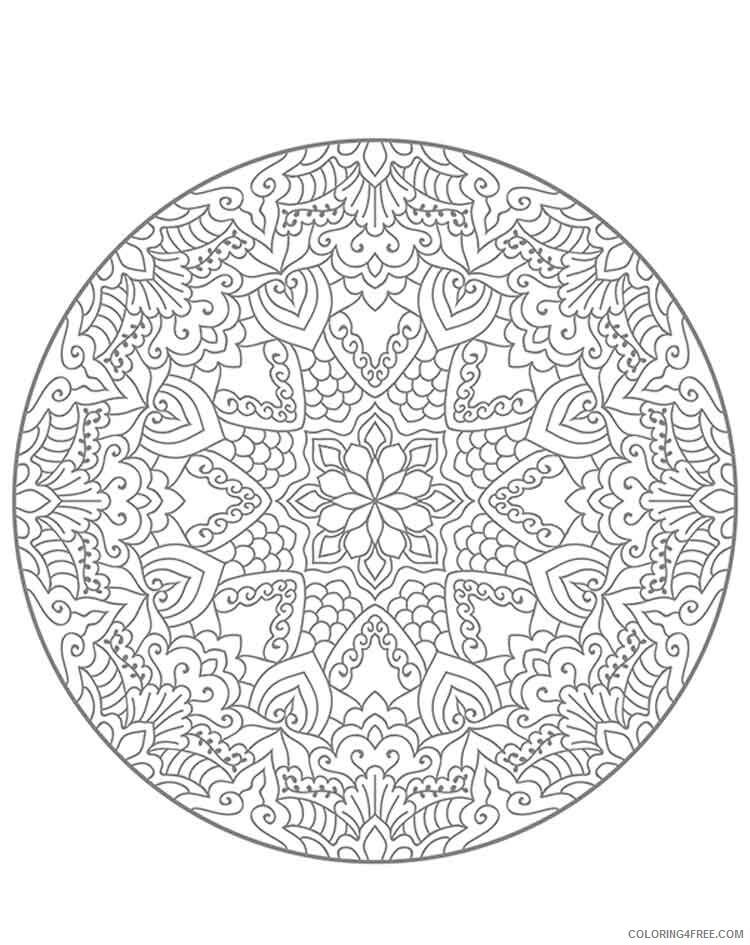 Mandala Coloring Pages Adult mandala adult 5 Printable 2020 596 Coloring4free