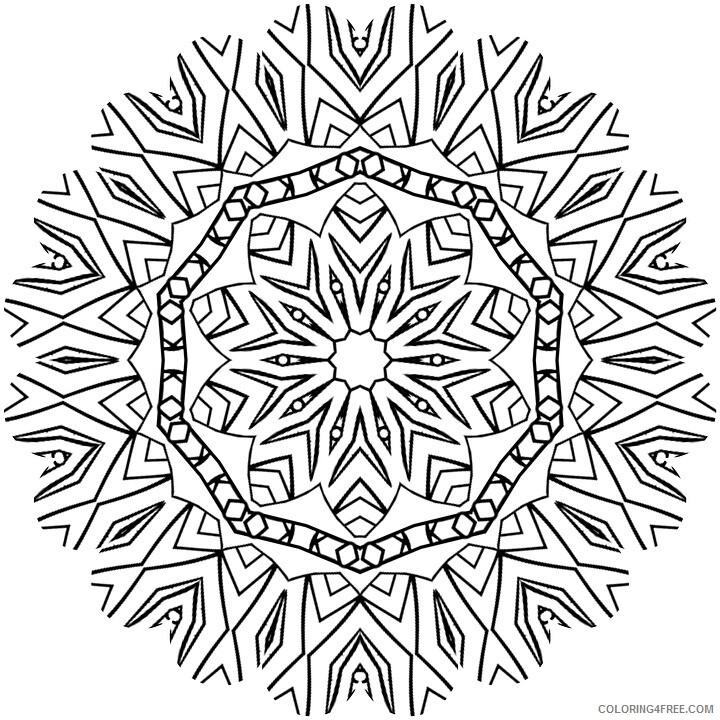 Mandala Coloring Pages Adult mandala for adults Printable 2020 603 Coloring4free