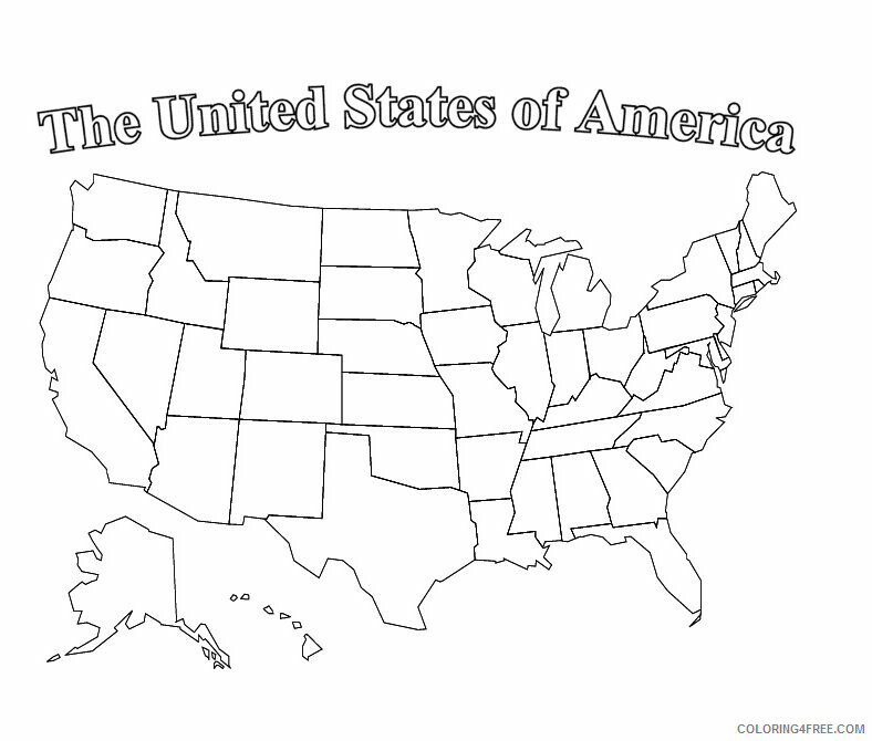 Map Coloring Pages Educational Usa Map Printable 2020 1678 Coloring4free Coloring4free Com