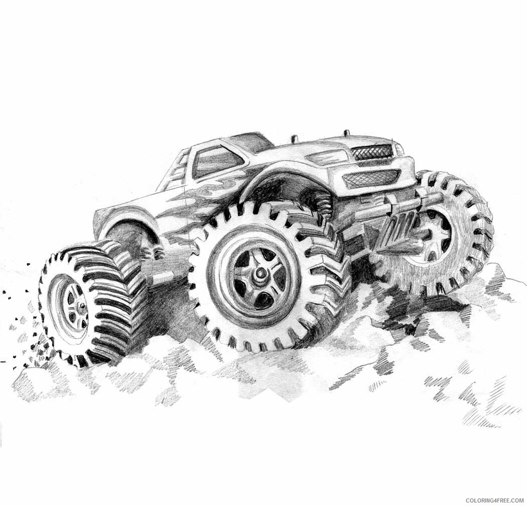 Monster Truck Coloring Pages For Boys Free To Print Printable 2020 0663 Coloring4free Coloring4free Com