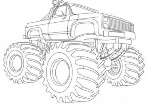 Monster Truck Coloring Pages Coloring4free Com