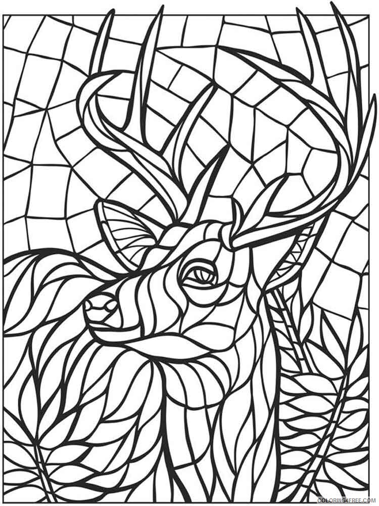 Mosaic Coloring Pages Adult Mosaic Adult 4 Printable 2020 675 Coloring4free Coloring4free Com