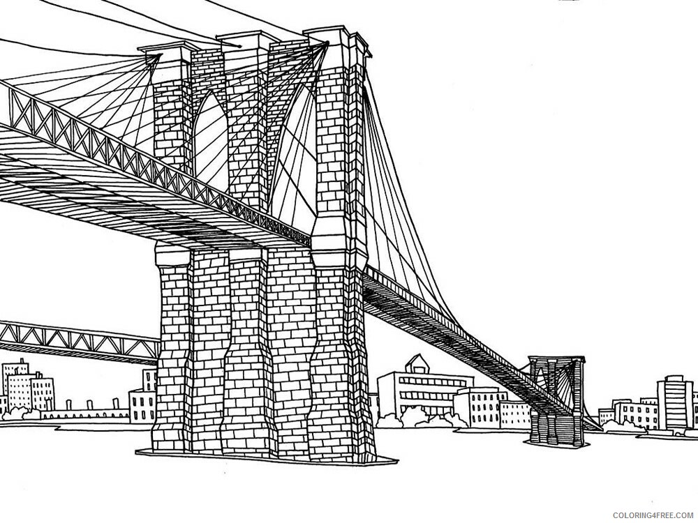 New York Coloring Pages Cities Educational New York 1 Printable 2020 335 Coloring4free Coloring4free Com