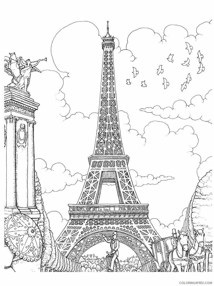 Paris Coloring Pages Cities Educational Paris 10 Printable 2020 342 Coloring4free Coloring4free Com