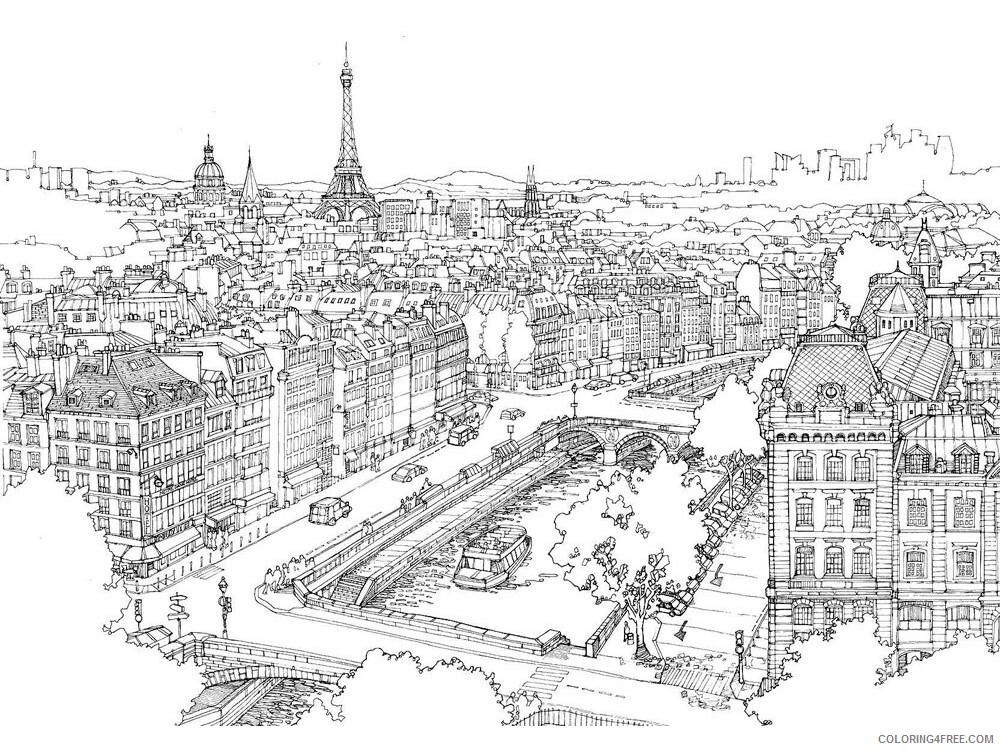 Paris Coloring Pages Cities Educational Paris 11 Printable 2020 343  Coloring4free - Coloring4Free.com