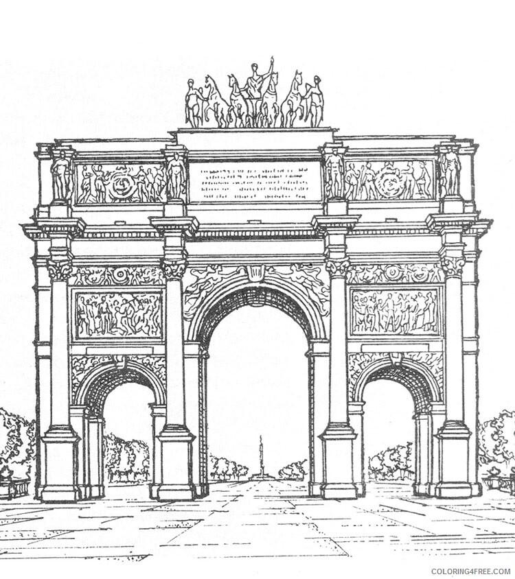 Paris Coloring Pages Cities Educational Paris 4 Printable 2020 346 Coloring4free Coloring4free Com