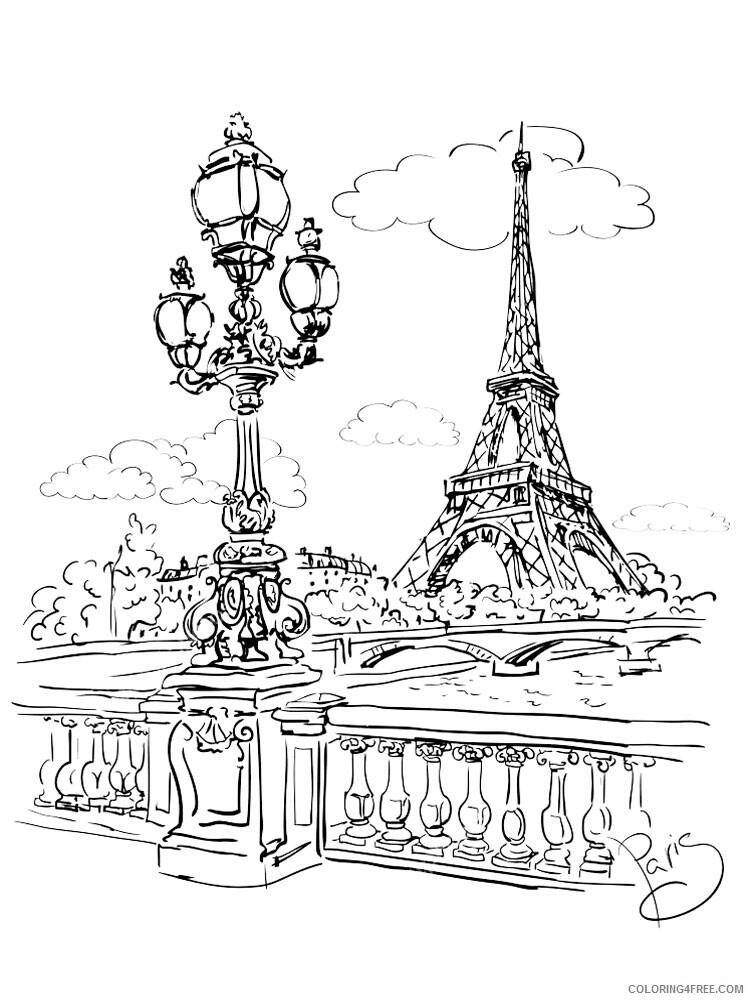 Paris Coloring Pages Cities Educational Paris 9 Printable 2020 351  Coloring4free - Coloring4Free.com