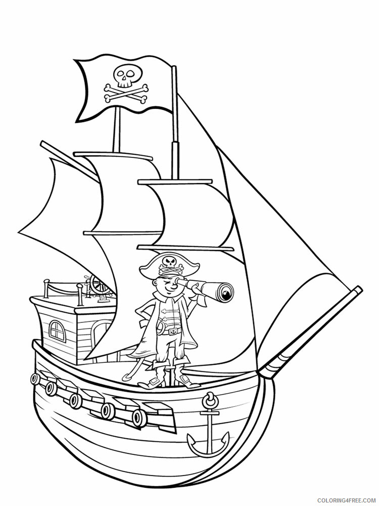 Pirate Ship Coloring Pages For Boys Pirate Ship For Boys 8 Printable 2020 0719 Coloring4free Coloring4free Com