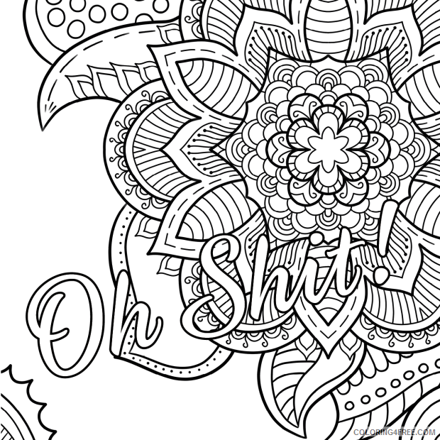 Swear Word Coloring Pages Adult Curse Word For Adults Printable 2020 820  Coloring4free - Coloring4Free.com