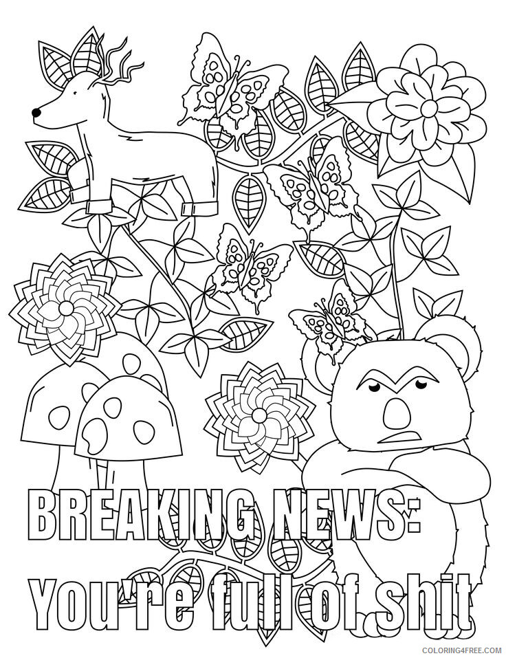 Swear Word Coloring Pages Adult Funny Swear Word Adult Printable 2020 824  Coloring4free - Coloring4Free.com