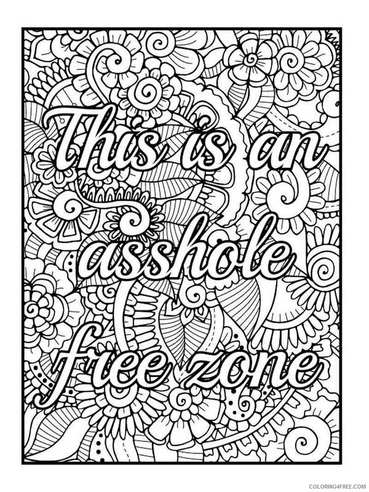 Swear Word Coloring Pages Adult Swear Word For Adults 13 Printable 2020 835  Coloring4free - Coloring4Free.com