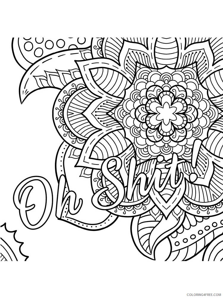 Swear Word Coloring Pages Adult Swear Word For Adults 3 Printable 2020 836  Coloring4free - Coloring4Free.com