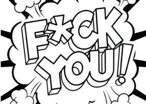Swear Word Coloring Pages Coloring4free Com