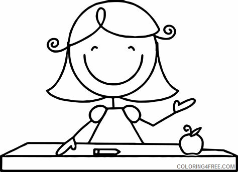 Teacher Coloring Pages Educational Free Teacher Printable 2020 1962 Coloring4free Coloring4free Com