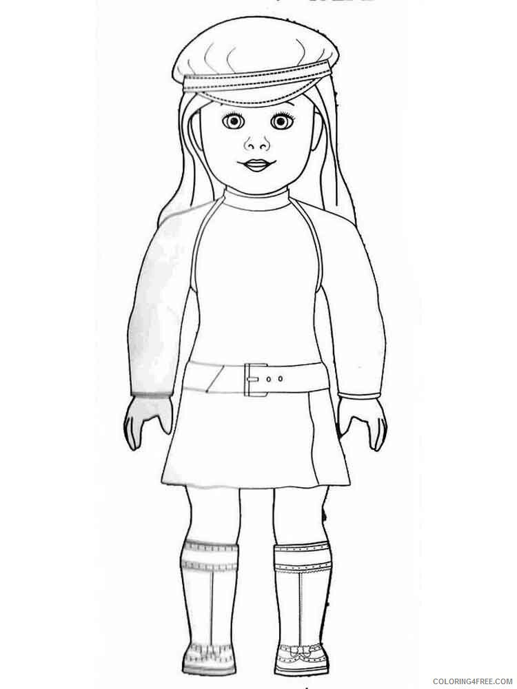 American Girl Doll Coloring Pages For Girls American Girl Doll 12 Printable  2021 0007 Coloring4free - Coloring4Free.com