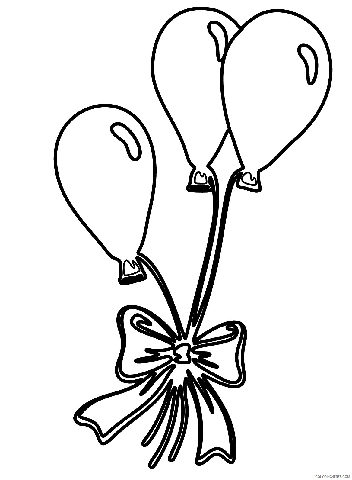 Balloons Coloring Pages for Kids Gift of Balloons Printable 2021 040 Coloring4free