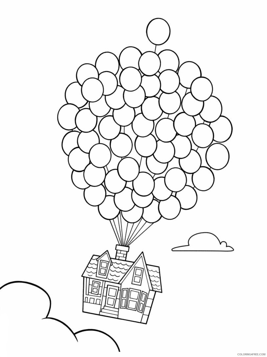 Balloons Coloring Pages for Kids Up House and Balloons Printable 2021 043 Coloring4free