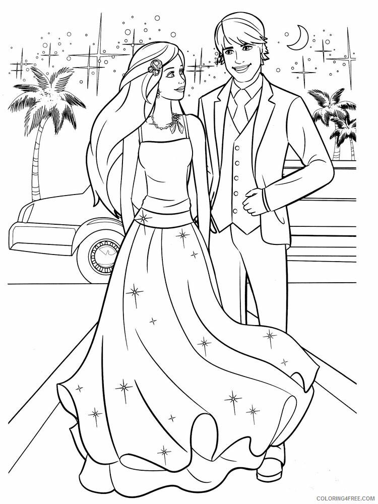 Barbie And Ken Coloring Pages For Girls Barbie And Ken 9 Printable 2021 0165 Coloring4free Coloring4free Com