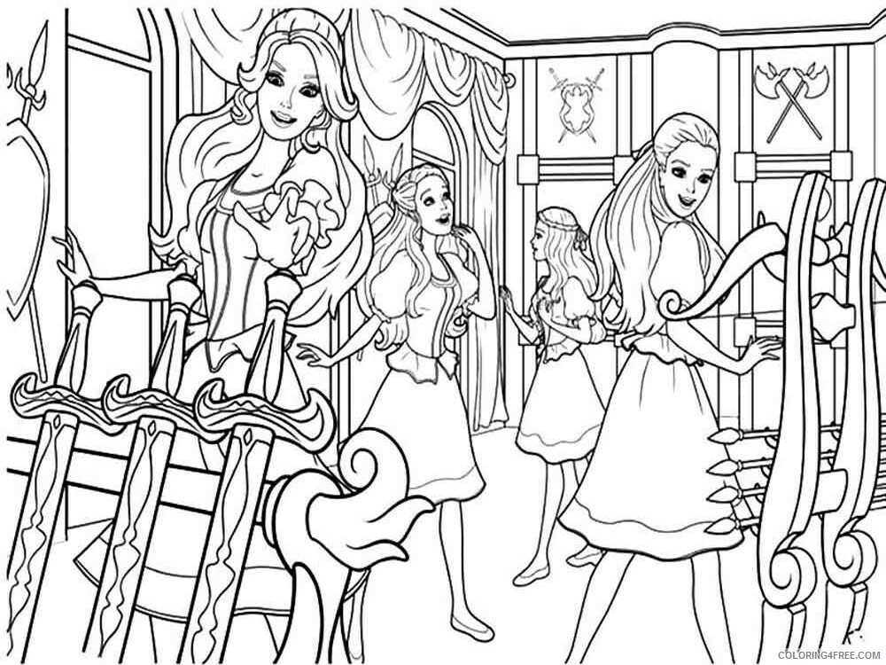 Barbie And The Three Musketeers Coloring Pages For Girls Printable 2021 0170 Coloring4free Coloring4free Com