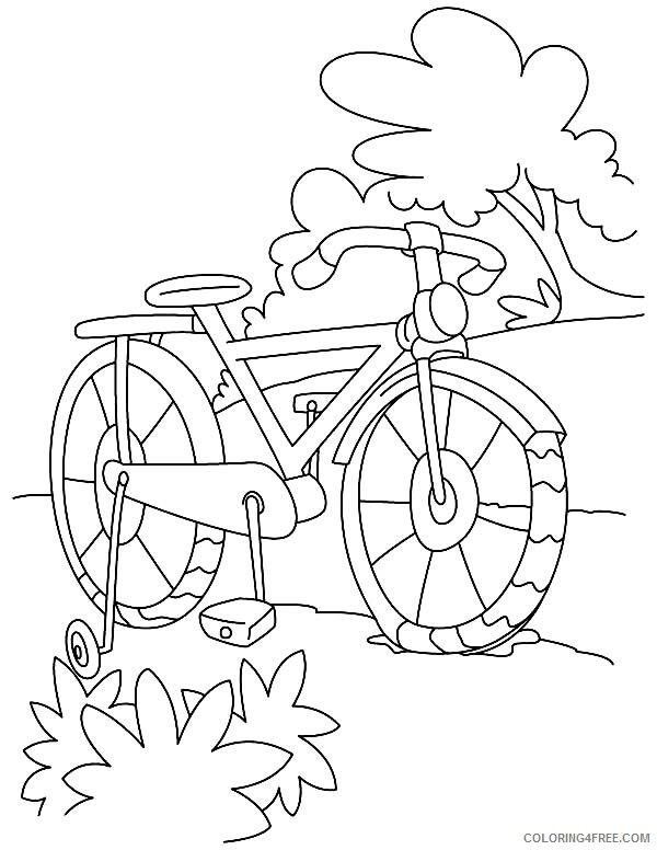 Bicycle Coloring Pages for Kids Bicycle Parking at Park Printable 2021 058 Coloring4free