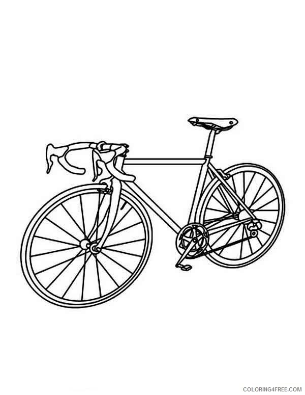 Bicycle Coloring Pages for Kids Bicycle for Race Printable 2021 057 Coloring4free