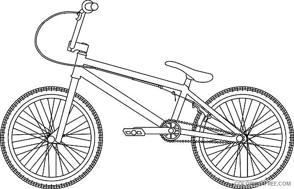Bicycle Coloring Pages for Kids Hybrid Bicycle Printable 2021 064 Coloring4free
