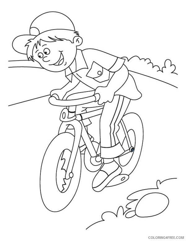 Bicycle Coloring Pages for Kids Little Kid Learn to Ride Bicycle Printable 2021 Coloring4free