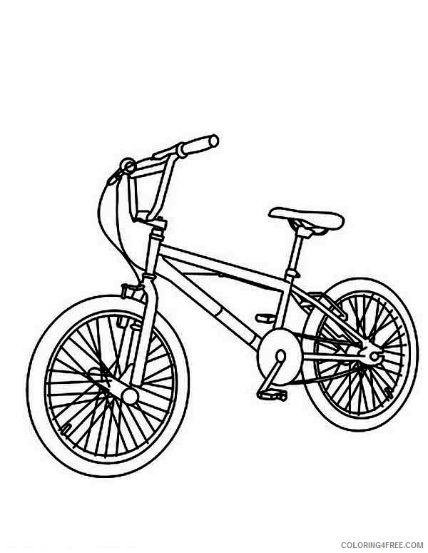 Bicycle Coloring Pages for Kids Mountain Bicycle Printable 2021 066 Coloring4free