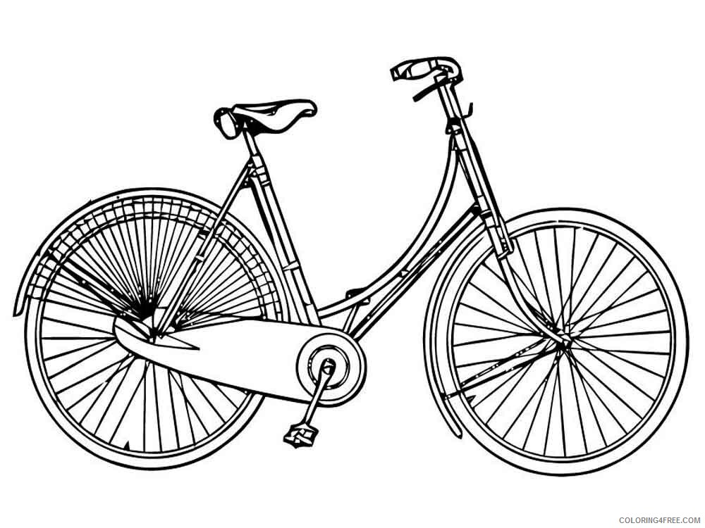 Bicycle Coloring Pages for Kids bicycle 1 Printable 2021 049 Coloring4free