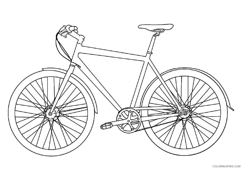 Bicycle Coloring Pages for Kids bicycle 2 Printable 2021 052 Coloring4free