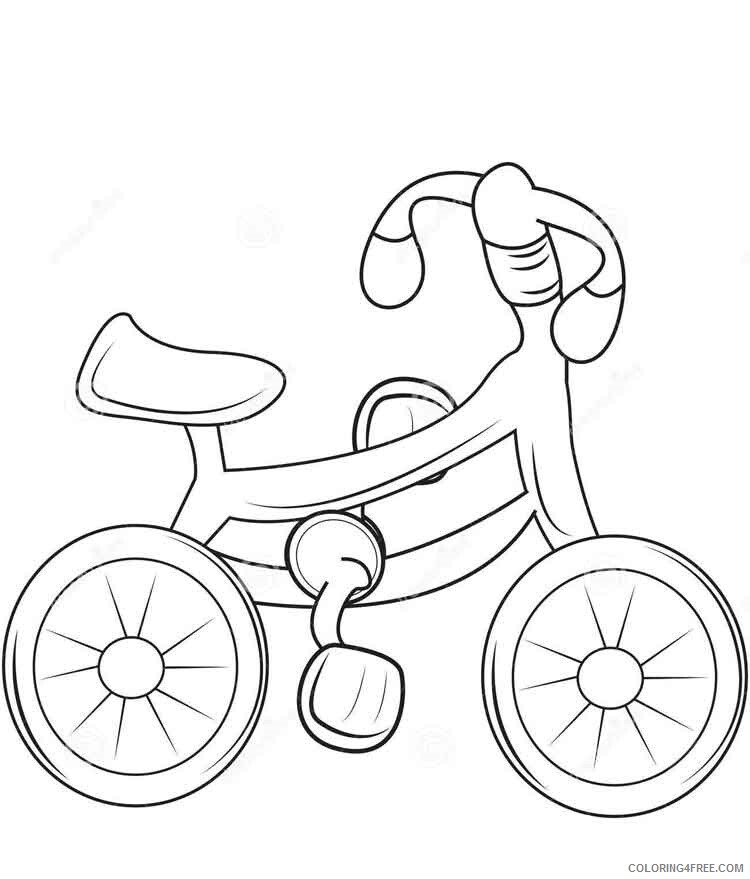Bicycle Coloring Pages for Kids bicycle 7 Printable 2021 053 Coloring4free