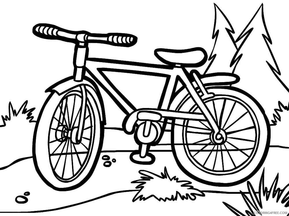 Bicycle Coloring Pages for Kids bicycle 8 Printable 2021 054 Coloring4free