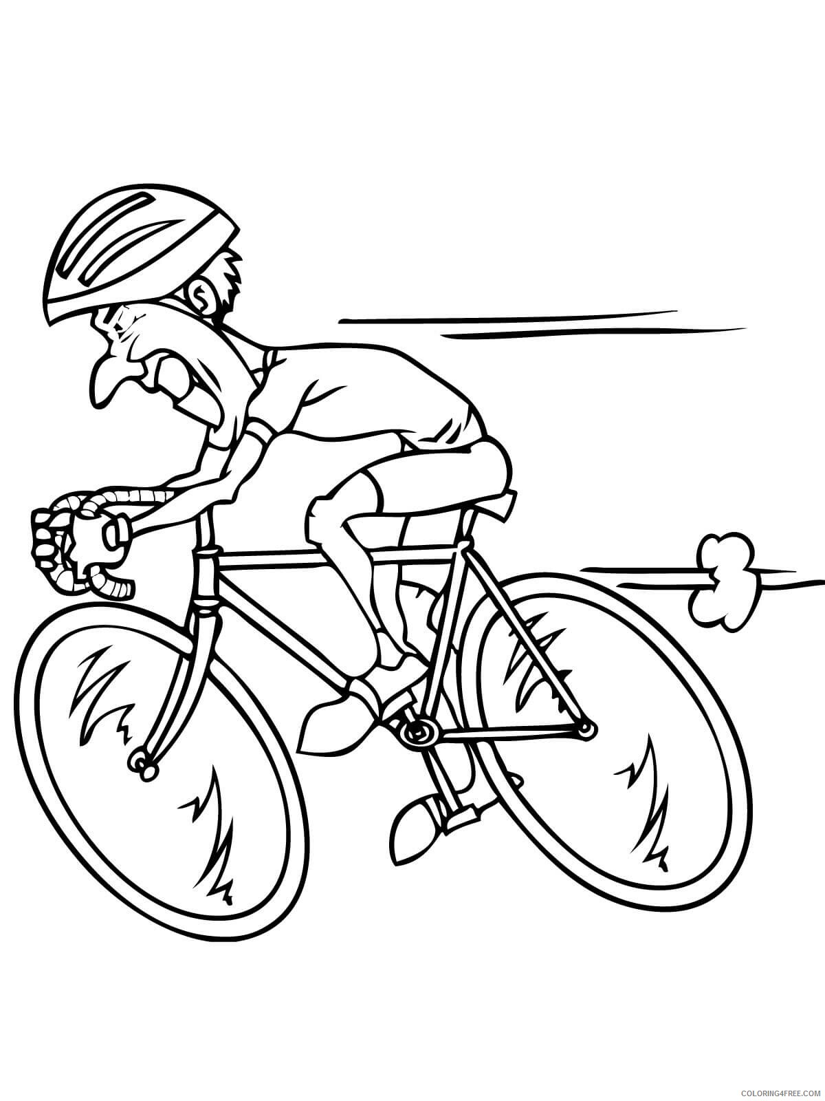 Bicycle Coloring Pages for Kids riding racing bicycle Printable 2021 046 Coloring4free