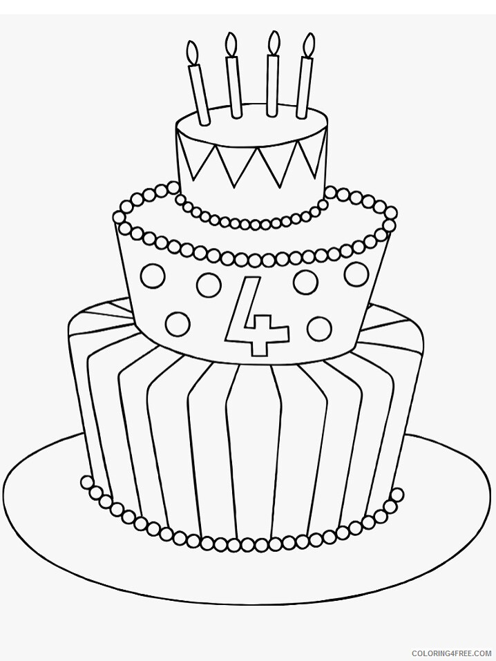Birthday Coloring Pages Holiday 1586247875_22 224157_collection of birthday drawing high quality birthday Printable 2021 0004 Coloring4free