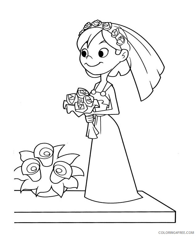 Bride Coloring Pages for Girls bride 1 Printable 2021 0218 Coloring4free