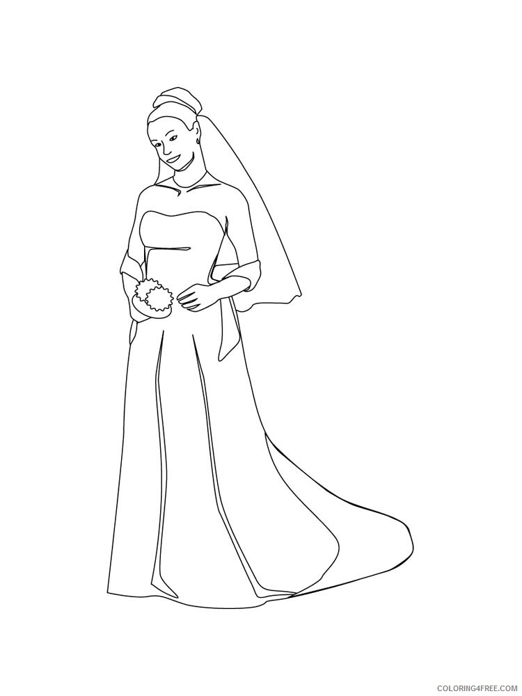 Bride Coloring Pages for Girls bride 3 Printable 2021 0225 Coloring4free