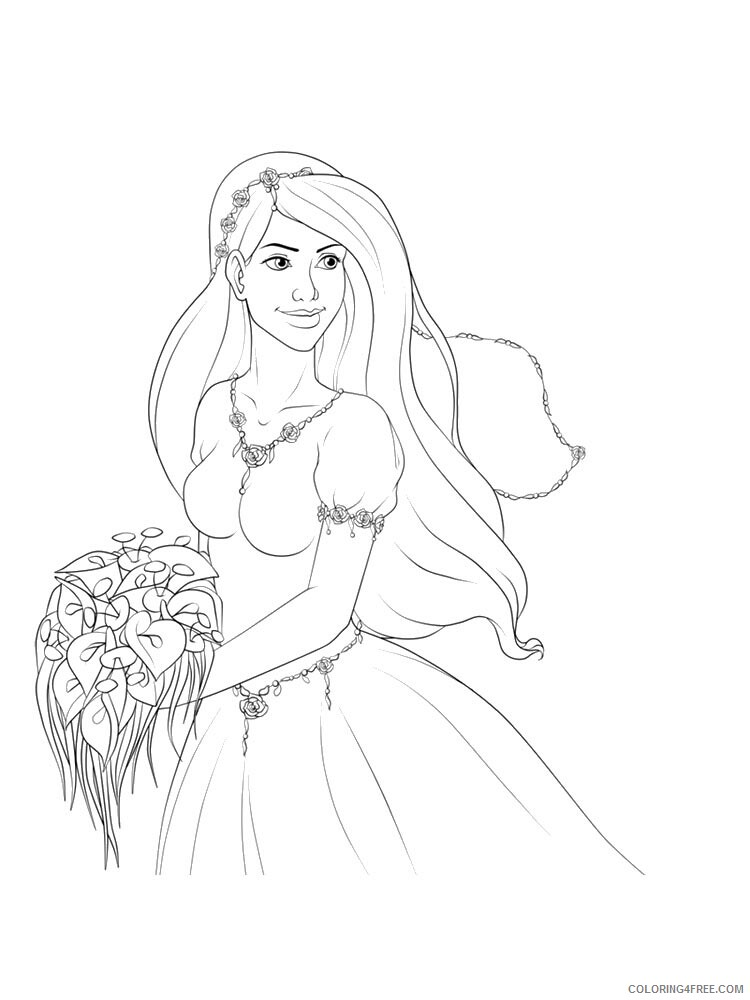 Bride Coloring Pages for Girls bride 8 Printable 2021 0228 Coloring4free