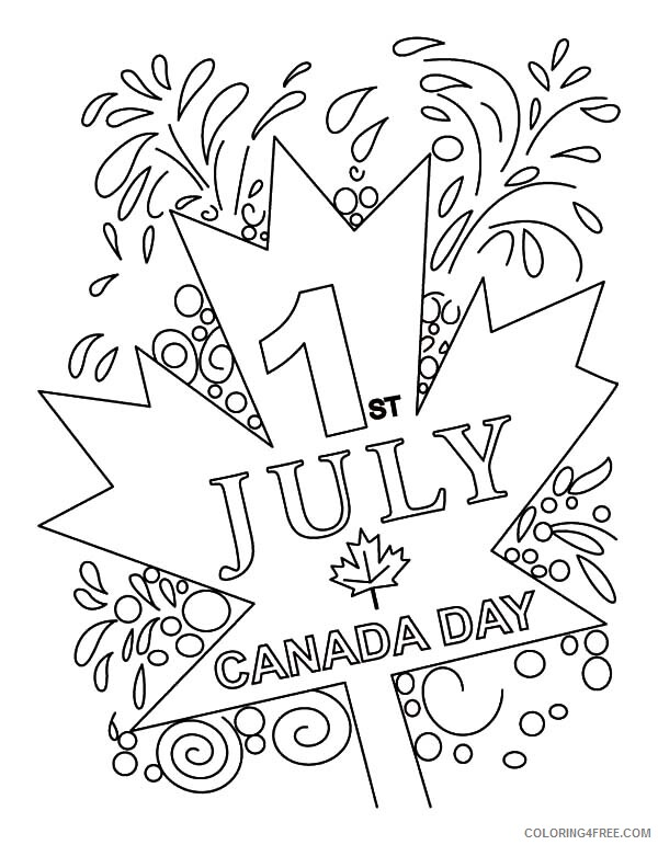 Canada Day Coloring Pages Holiday Canada Day Celebration on July 1st Printable 2021 0039 Coloring4free
