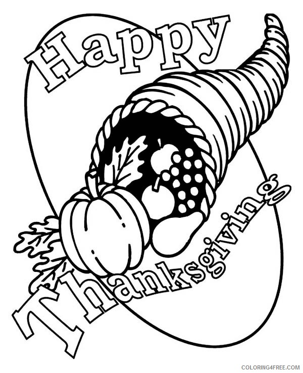 Canada Day Coloring Pages Holiday Cornucopia Canada Thanksgiving Day Horn Basket Printable 2021 0049 Coloring4free