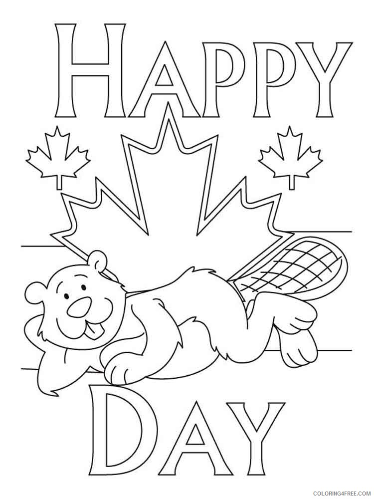 Canada Day Coloring Pages Holiday canada day 1 Printable 2021 0041 Coloring4free