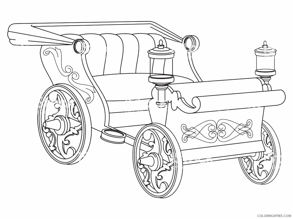Carriage Coloring Pages for Girls Carriage 10 Printable 2021 0240 Coloring4free