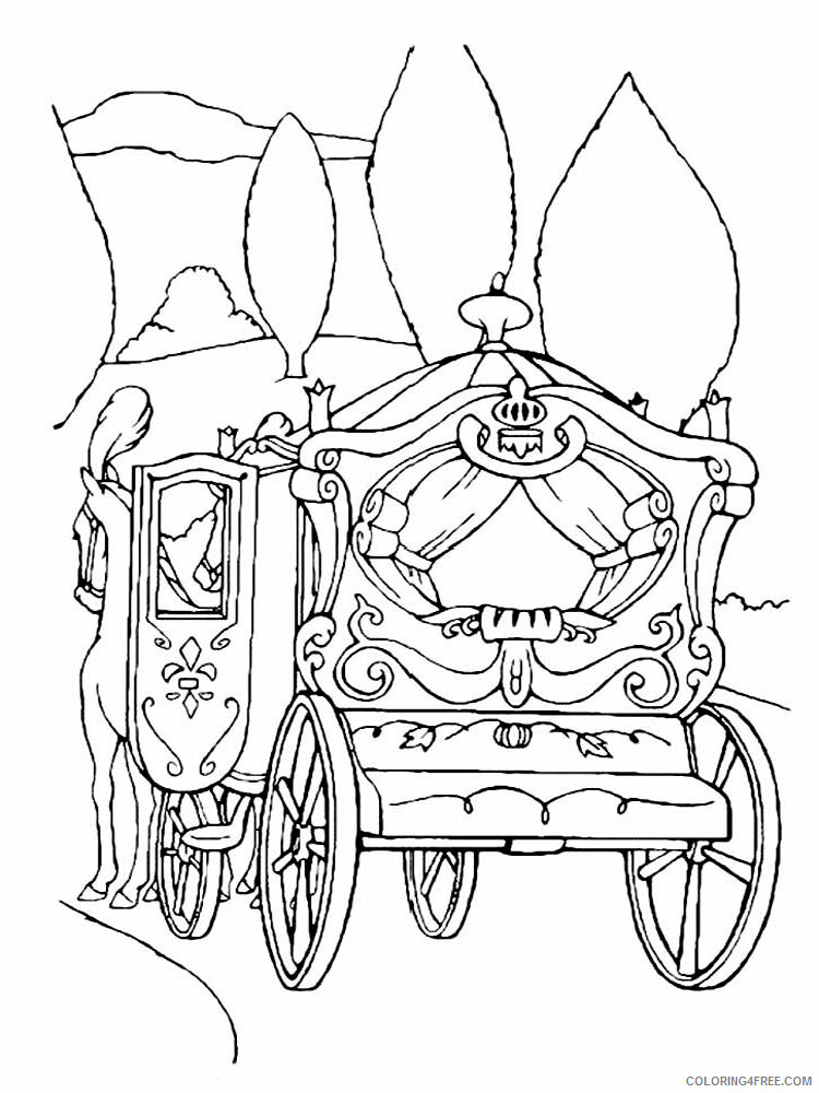 Carriage Coloring Pages for Girls Carriage 3 Printable 2021 0243 Coloring4free