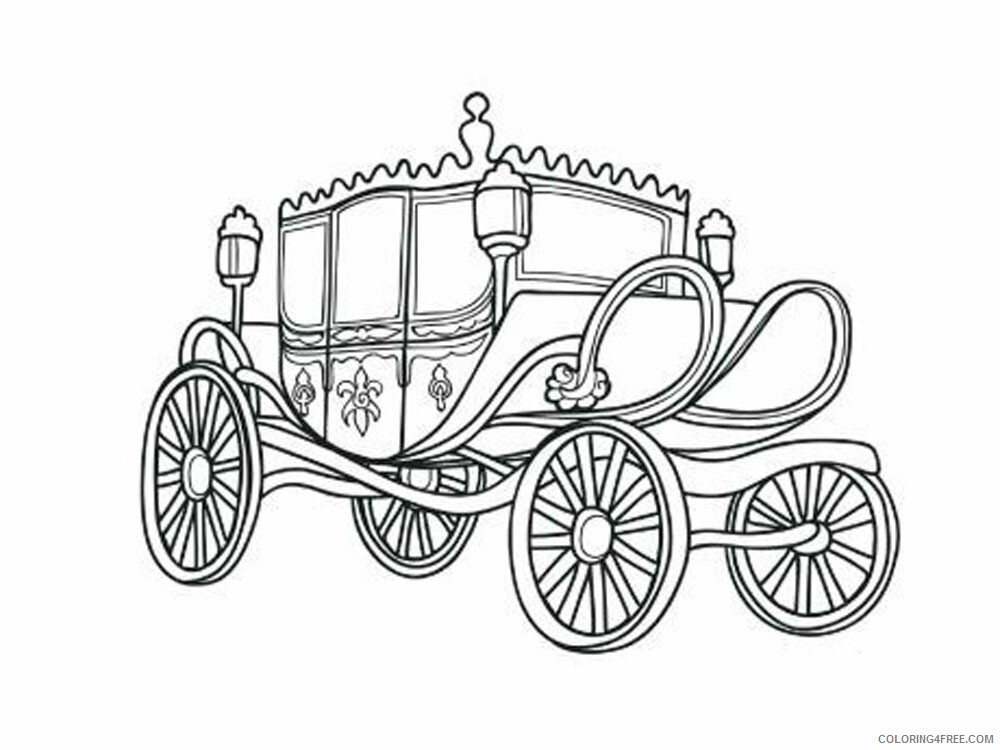 Carriage Coloring Pages for Girls Carriage 5 Printable 2021 0245 Coloring4free