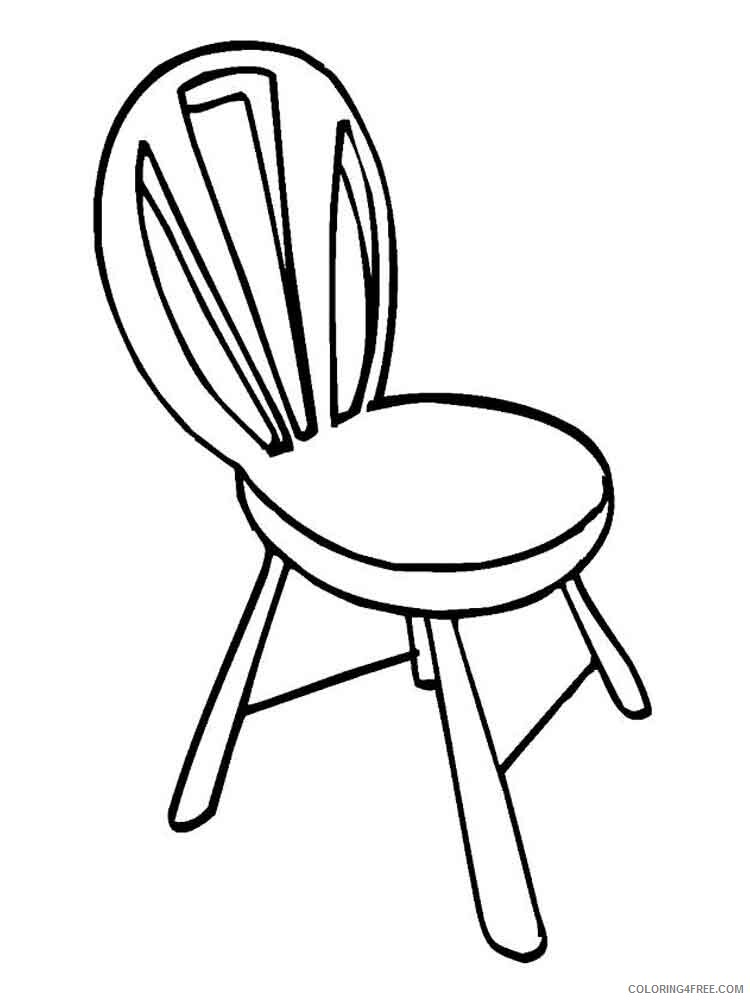 Chair Coloring Pages for Kids chair 13 Printable 2021 075 Coloring4free