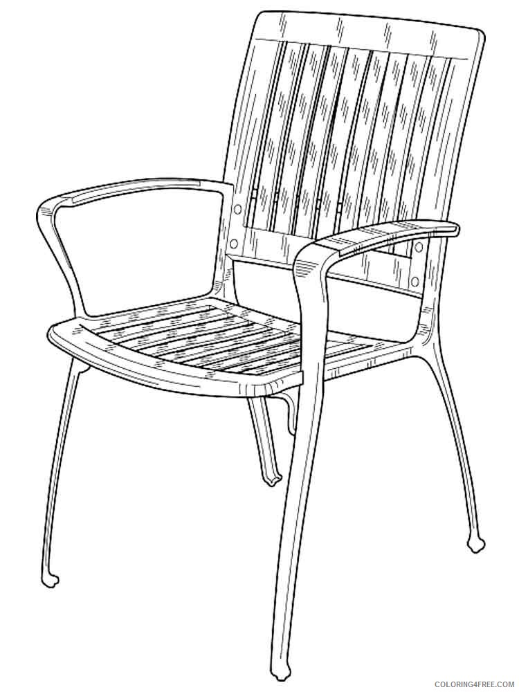 Chair Coloring Pages for Kids chair 3 Printable 2021 079 Coloring4free