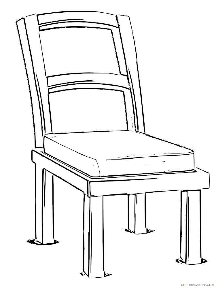 Chair Coloring Pages for Kids chair 5 Printable 2021 080 Coloring4free