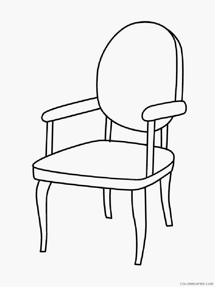 Chair Coloring Pages for Kids chair 7 Printable 2021 082 Coloring4free