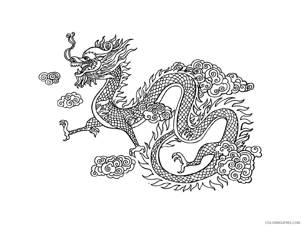 Chinese Dragon Coloring Pages Holiday Chinese Dragon 11 Printable 2021 0052 Coloring4free