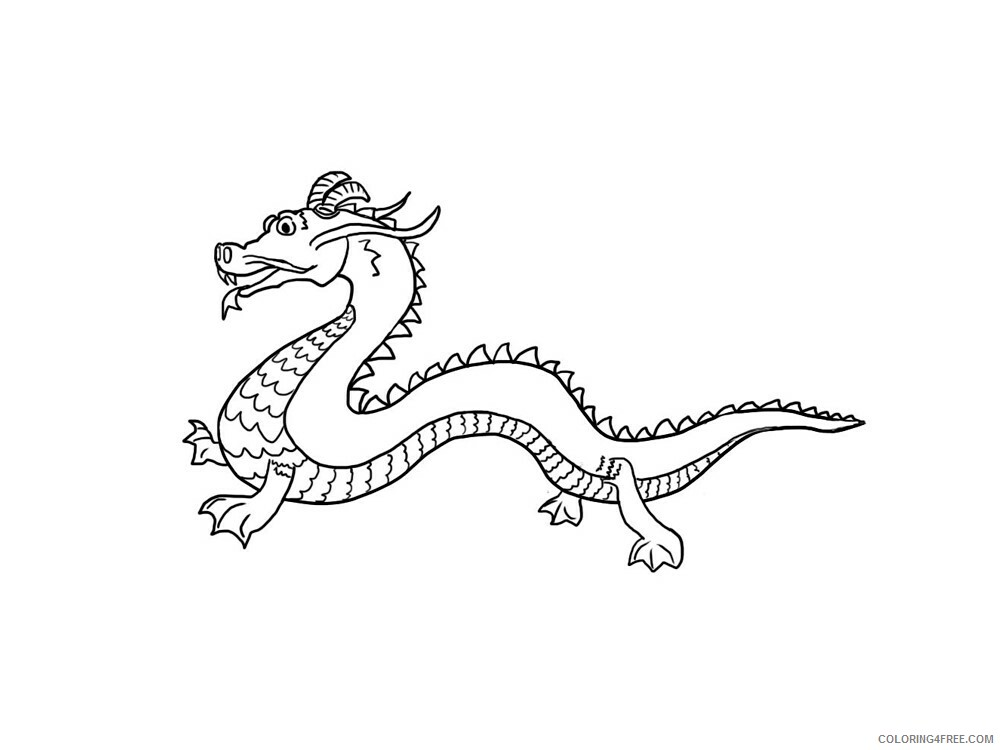 Chinese Dragon Coloring Pages Holiday Chinese Dragon 12 Printable 2021 0053 Coloring4free