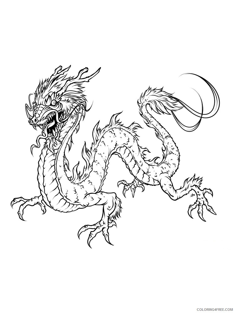Chinese Dragon Coloring Pages Holiday Chinese Dragon 3 Printable 2021 0054 Coloring4free